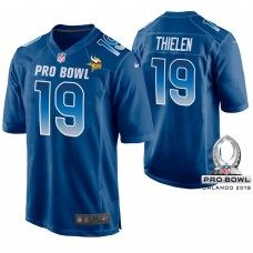 Minnesota Vikings #19 Adam Thielen Royal Game Jersey 2019 Pro Bowl NFC