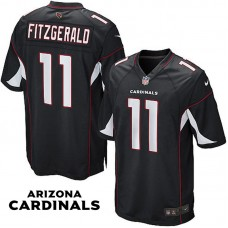 Arizona Cardinals #11 Larry Fitzgerald Black Game Jersey