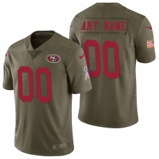 San Francisco 49ers Olive 2017 Salute to Service Limited Customized Jersey