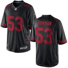 San Francisco 49ers #53 NaVorro Bowman Black Game Jersey