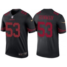 San Francisco 49ers #53 Navorro Bowman Black Color Rush Legend Jersey