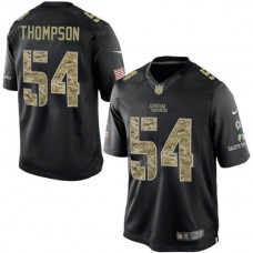 Carolina Panthers #54 Shaq Thompson Salute To Service Black Jersey