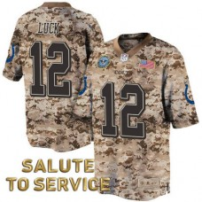 Indianapolis Colts #12 Andrew Luck Salute to Service Digital Camo Jersey