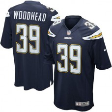 Youth Danny Woodhead San Diego Chargers #39 Game Jersey - Navy Blue