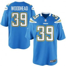 Youth Danny Woodhead San Diego Chargers #39 Game Jersey-Powder Blue