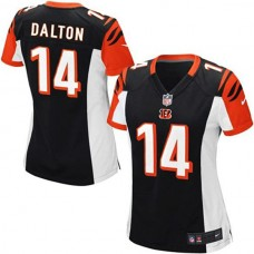 Youth Cincinnati Bengals #14 Andy Dalton Black Replica Game Jersey