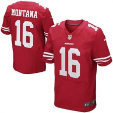 Joe Montana San Francisco 49ers #16 Retired Elite Jersey-Scarlet