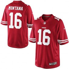 Joe Montana Scarlet San Francisco 49ers #16 Retired Player Limited Jersey