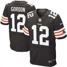 Cleveland Browns #12 Josh Gordon Brown Elite Jersey