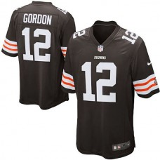 Cleveland Browns #12 Josh Gordon Brown Game Jersey