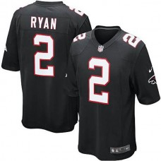 Atlanta Falcons #2 Matt Ryan Black Alternate Game Jersey