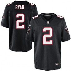 Atlanta Falcons #2 Matt Ryan Black Elite Jersey
