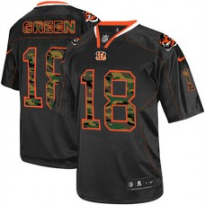 Cincinnati Bengals #18 A.J. Green Elite Black Camo Fashion Jersey