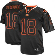 Cincinnati Bengals #18 A.J. Green Elite Black Lights Out Jersey