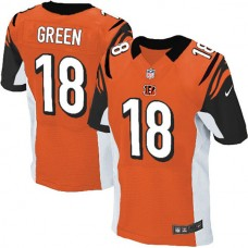 Cincinnati Bengals #18 A.J. Green Elite Orange Jersey