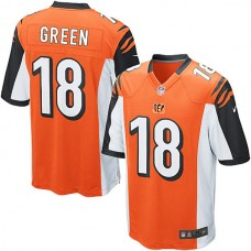 Cincinnati Bengals #18 A.J. Green Game Orange Jersey
