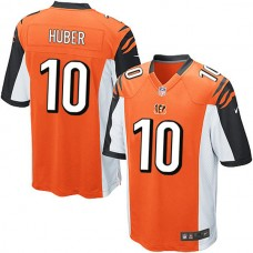 Cincinnati Bengals #10 Kevin Huber Game Orange Jersey