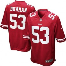 San Francisco 49ers #53 NaVorro Bowman Scarlet Team Color Limited Jersey