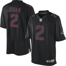 Atlanta Falcons #2 Matt Ryan Elite Black Impact Jersey