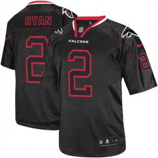 Atlanta Falcons #2 Matt Ryan Elite Black Lights Out Jersey