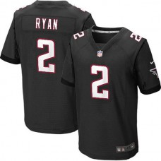 Atlanta Falcons #2 Matt Ryan Elite Black Jersey