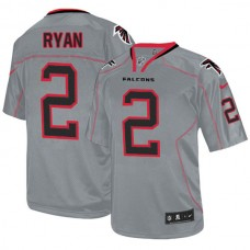 Atlanta Falcons #2 Matt Ryan Elite Grey Lights Out Jersey