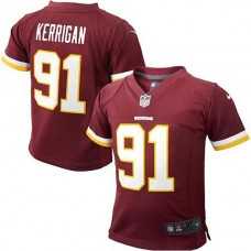 Preschool Washington Redskins #91 Ryan Kerrigan Burgundy Game Jersey