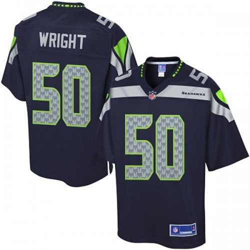 Pro Line Seattle Seahawks #50 K.J. Wright Team Color Jersey