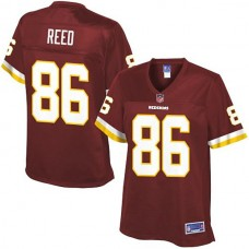 Women's Pro Line Washington Redskins #86 Jordan Reed Team Color Jersey