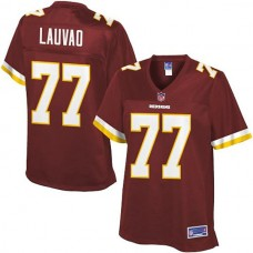 Women's Pro Line Washington Redskins #77 Shawn Lauvao Team Color Jersey