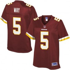 Women's Pro Line Washington Redskins #5 Tress Way Team Color Jersey