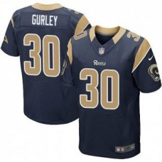 St. Louis Rams #30 Todd Gurley Navy Blue Elite Jersey