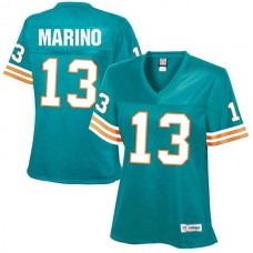 Women's Miami Dolphins #13 Dan Marino Aqua Retired Player Jersey