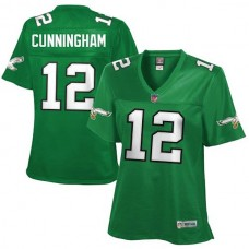Women's Philadelphia Eagles #12 Randall Cunningham Midnight Green Retired Player Jersey