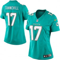 Women's Miami Dolphins #17 Ryan Tannehill Blue Limited Jersey
