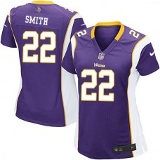 Women's Minnesota Vikings #22 Harrison Smith Purple Elite Jersey