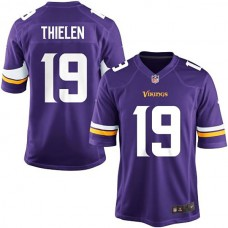 Youth Minnesota Vikings #19 Adam Thielen Team Color Game Jersey