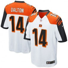 Youth Cincinnati Bengals #14 Andy Dalton White Game Jersey