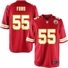 Youth Kansas City Chiefs #55 Dee Ford Team Color Game Jersey