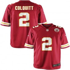Youth Kansas City Chiefs #2 Dustin Colquitt Team Color Game Jersey