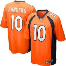 Youth Denver Broncos #10 Emmanuel Sanders Orange Team Color Game Jersey