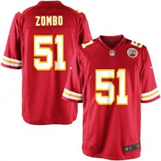 Youth Kansas City Chiefs #51 Frank Zombo Team Color Game Jersey