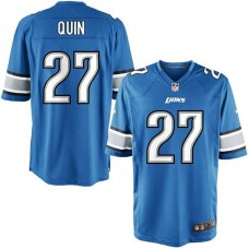 Youth Detroit Lions #27 Glover Quin Team Color Game Jersey