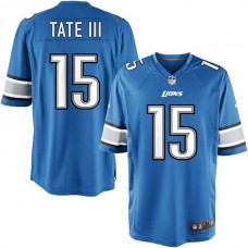 Youth Detroit Lions #15 Golden Tate III Team Color Game Jersey