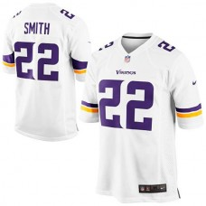 Youth Minnesota Vikings #22 Harrison Smith White Game Jersey