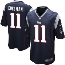 Youth New England Patriots #11 Julian Edelman Navy Blue Limited Jersey