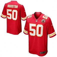 Youth Kansas City Chiefs #50 Justin Houston Red Team Color Game Jersey