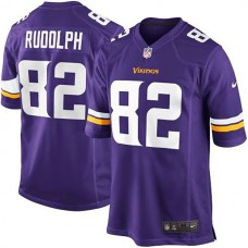 Youth Minnesota Vikings #82 Kyle Rudolph Purple Team Color Game Jersey