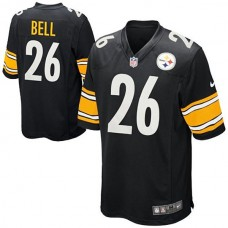 Youth Pittsburgh Steelers #26 Le'Veon Bell Black Team Color Game Jersey