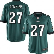 Youth Philadelphia Eagles #27 Malcolm Jenkins Team Color Game Jersey